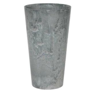 アートストーン トール ラウンド 28 x H 49 cm / 軽量 / 植木 鉢 プランター 【 グレー 】 / 送料無料