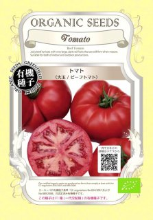 トマト とまと / 大玉 / ビーフトマト / 有機 種子 / グリーンフィールド / 果菜 [小袋]