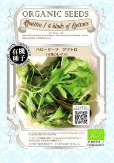 ベビーリーフ クワトロ 4種 の レタス / 有機 種子 固定種 / グリーンフィールド / ベビーリーフ [小袋]