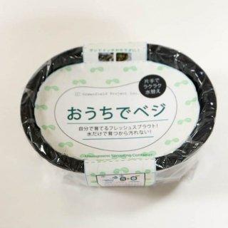 おうちでベジ / ブロッコリー 種入 / ブラック < スプラウト専用 栽培 容器 かいわれ 型 >