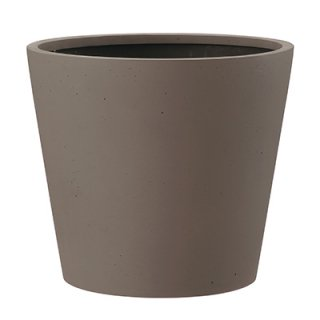 ポリッシュ コニック 40 cm / 軽量 / 植木 鉢 プランター 【 ブラウン 】