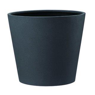 ポリッシュ コニック 40 cm / 軽量 / 植木 鉢 プランター 【 チャコール 】