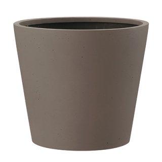 ポリッシュ コニック 50 cm / 軽量 / 植木 鉢 プランター 【 ブラウン 】