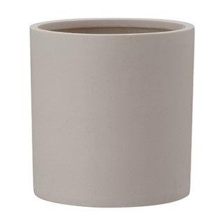 ポリッシュ シリンダー 29 cm / 軽量 / 植木 鉢 プランター 【 クリーム 】