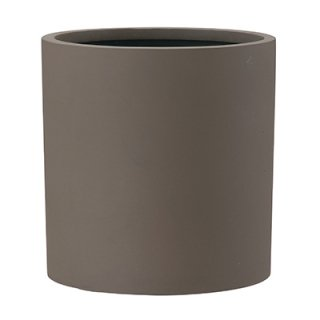 ポリッシュ シリンダー 43 cm / 軽量 / 植木 鉢 プランター 【 ブラウン 】