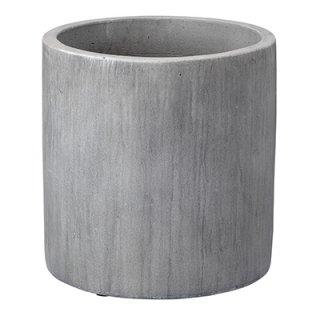 レイニー シリンダー 35 cm / テラコッタ / 植木 鉢 プランター 【 ライトグレー 】