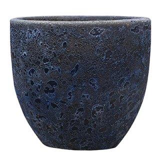 ボルカーノ ラウンド 33 cm / テラコッタ / 植木 鉢 プランター 【 Fブルー 】