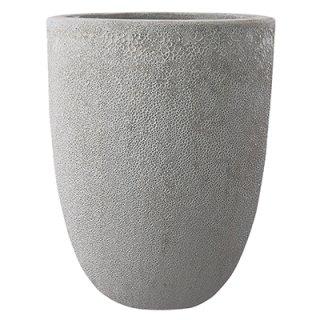 ボルカーノ トールラウンド 33 cm / テラコッタ / 植木 鉢 プランター 【 Mホワイト 】