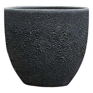 ボルカーノラウンド 39 cm / テラコッタ / 植木 鉢 プランター 【 Fブラック 】
