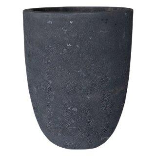 ボルカーノ トールラウンド 43 cm / テラコッタ / 植木 鉢 プランター 【 Fブラック 】