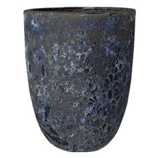 ボルカーノ トールラウンド 43 cm / テラコッタ / 植木 鉢 プランター 【 Fブルー 】