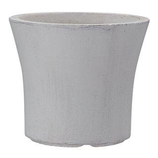 クレイポット ラウンド 36 cm / コンクリート / 植木 鉢 プランター 【 ホワイト】