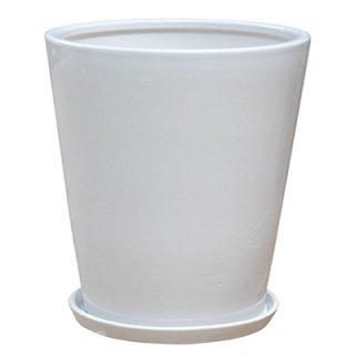 ラウンド 38 cm / 釉薬 陶器 インテリア / 植木 鉢 プランター