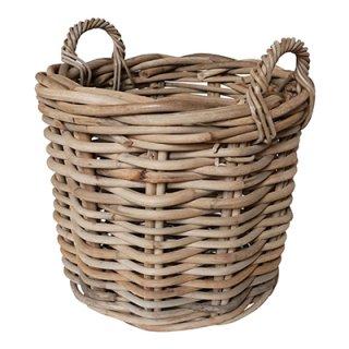 モンデリック ログバスケット 50 cm x H 45 cm / 軽量 / 木製 / 植木 鉢 プランター バスケット
