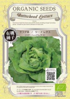 サラダ菜 / リーフ レタス / バターヘッド レタス / 有機 種子 固定種 / グリーンフィールド / 葉菜 [小袋]