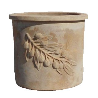 オリーブ ラウンド アンティコ 50 cm / テラコッタ / 植木 鉢 プランター / 送料無料