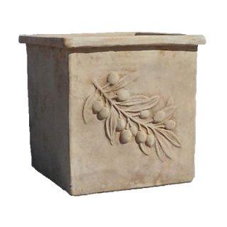 オリーブ スクエアー アンティコ 37 cm / テラコッタ / 植木 鉢 プランター / 送料無料
