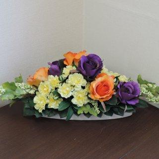 こちらと全く同じ花器で作成します テーブルセンターにおすすめの四方見ロータイプ