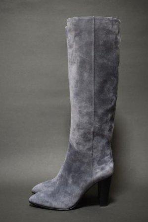 <img class='new_mark_img1' src='https://img.shop-pro.jp/img/new/icons50.gif' style='border:none;display:inline;margin:0px;padding:0px;width:auto;' />SERGIO ROSSI SUEDE GREY LONG BOOTS