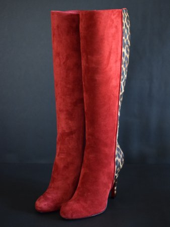 <img class='new_mark_img1' src='//img.shop-pro.jp/img/new/icons50.gif' style='border:none;display:inline;margin:0px;padding:0px;width:auto;' />CHRISTIAN LOUBOUTIN SUEDE&LEOPARD BOOTS