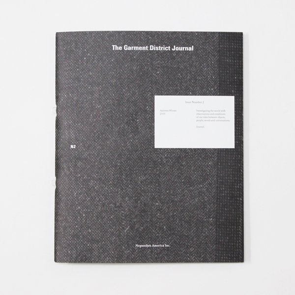 """NEPENTHES(ネペンテス)""""THE GARMENT DISTRICT JOURNAL #2""""【メール便対応】"""
