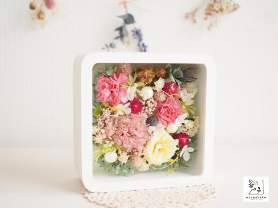 ピンクのお花箱
