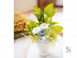 【お供え・仏花/枯れないお花】プリザーブドフラワーのお手入れ不要な仏壇花ohana-nagomi(1個)