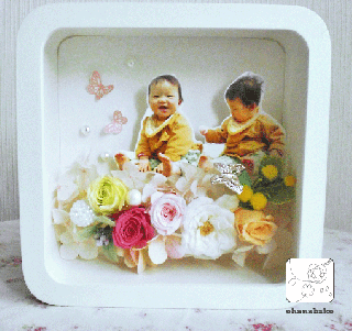 まるで絵本の世界!写真を送るだけでオーダーメイドの花ギフト◇ohanabatakeお花畑(S)