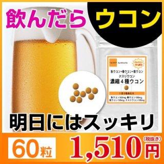 【お試し サプリ】クルクミン50mm配合 濃縮4種ウコン 60粒(約1ヶ月分)