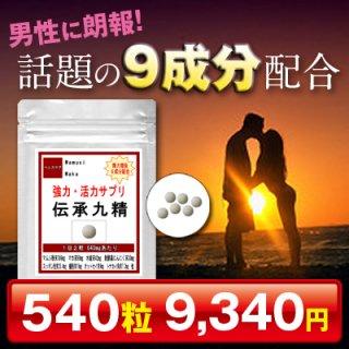 強力・活力サプリ 伝承九精 お徳用540粒(約9ヶ月分)