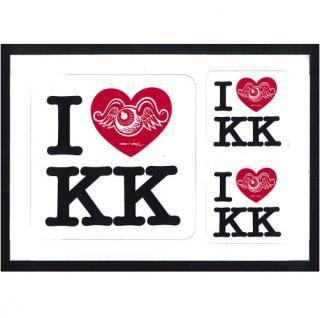 I LOVE K K ステッカー