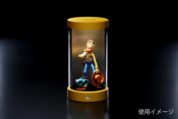 【予約】円柱型LEDフィギュアケース (直径12cm×高さ24cm)