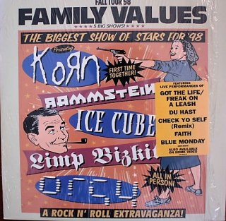 V.A / FAMILY VALUES FALL TOUR 98 (USED 2LP)
