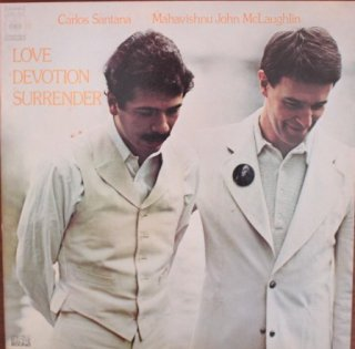 CARLOS SANTANA MAHAVISHUNU JOHN McLAUGHLIN / LOVE DEVOTION SURRENDER (USED LP)