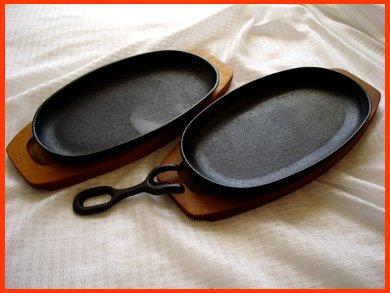 ☆アサヒ鉄板皿 ステーキ 焼きそば スパゲッティなどに 2客セット