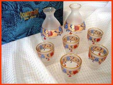 ☆山本 寛斎(Kansai)冷酒ショットグラス5カップととペアデカンタのセット