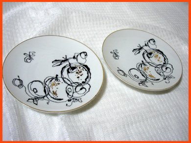 ☆昭和レトロ食器 オールドノリタケ ケーキ皿 銘々皿2枚セット