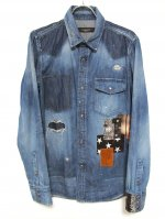"""<img class='new_mark_img1' src='https://img.shop-pro.jp/img/new/icons47.gif' style='border:none;display:inline;margin:0px;padding:0px;width:auto;' />DENIM SHIRTS """"PATCHWORK"""""""