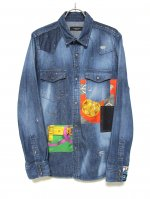 """<img class='new_mark_img1' src='https://img.shop-pro.jp/img/new/icons47.gif' style='border:none;display:inline;margin:0px;padding:0px;width:auto;' />DENIM SHIRTS """"WORKER"""""""