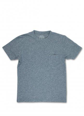 Ambiente アンビエンテ ヘザー スラブコットン ポケット付き Tシャツ ダークネイビー ポルトガル製