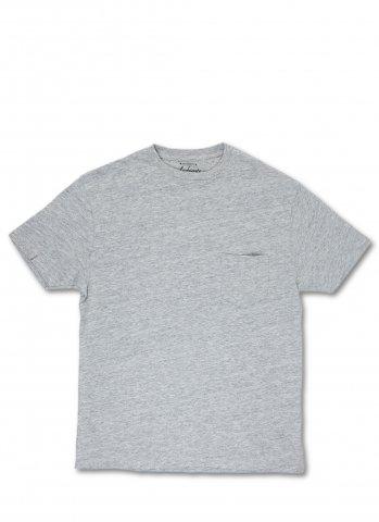Ambiente アンビエンテ ヘザー スラブコットン ポケット付き Tシャツ グレー ポルトガル製