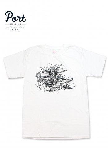 ポートロングビーチ リバーラット Tシャツ PORT LONG BEACH RIVER RAT TEE ホワイト