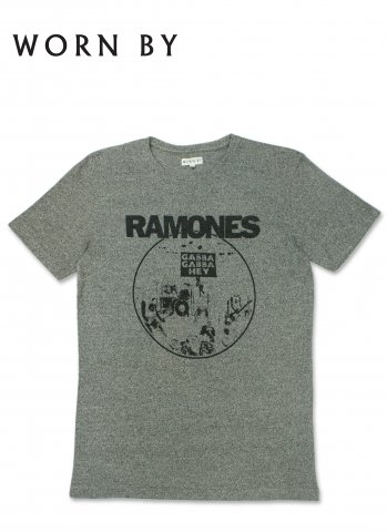 <img class='new_mark_img1' src='//img.shop-pro.jp/img/new/icons20.gif' style='border:none;display:inline;margin:0px;padding:0px;width:auto;' />WORN BY RAMONES GABBA GABBA HEY ウォーンバイ ラモーンズ Tシャツ ヘザーグレー