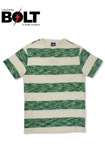 ライトニングボルト ボーダー ポケット Tシャツ Lightning BOLT ポルトガル製 グリーン