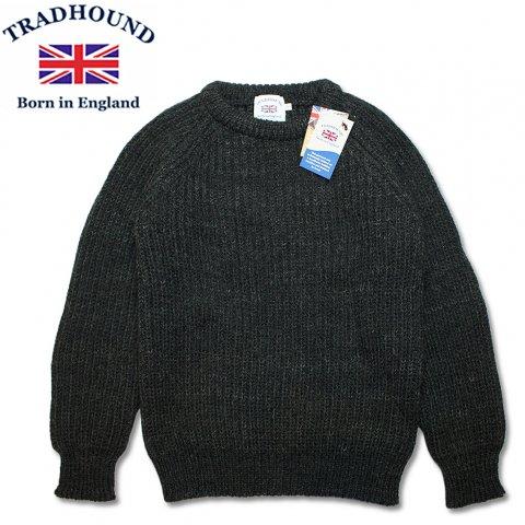TRADHOUND トラッドハウンド アルパカ ウール クルーネックセーター イギリス製 チャコール