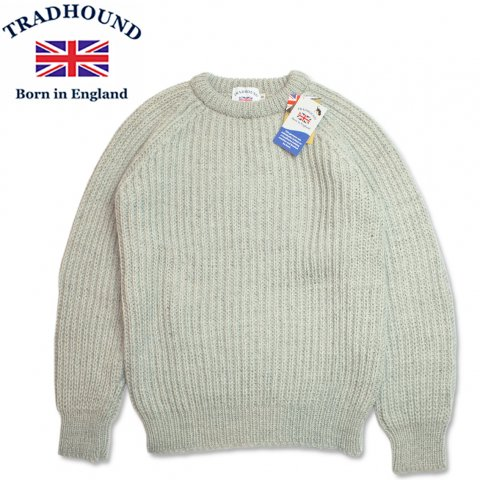 TRADHOUND トラッドハウンド アルパカ ウール クルーネックセーター イギリス製 ライトグレー
