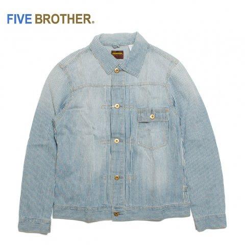 FIVE BROTHER ファイブブラザー ヒッコリーデニムショートジャケット ストライプ