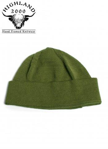 ハイランド2000 ニット帽 ボブ キャップ コットン HIGHLAND 2000 COTTON SB BOB CAP オリーブ