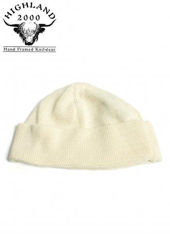 ハイランド2000 ニット帽 ボブ キャップ コットン HIGHLAND 2000 COTTON SB BOB CAP オフホワイト