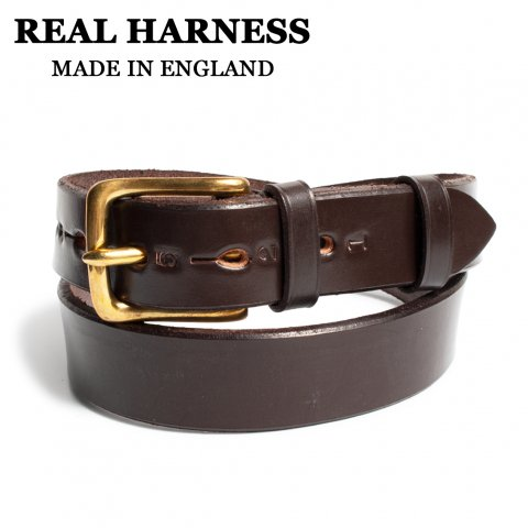 REAL HARNESS リアルハーネス スティラップレザーベルト 28mm幅 イギリス製 ブラウン